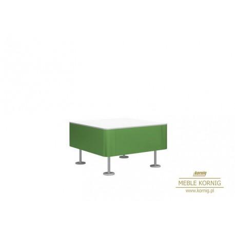 Stolik kwadratowy ze szkłem mlecznym