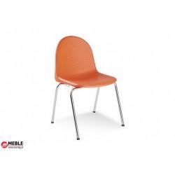 Krzesło Amigo plastik pomarańczowy