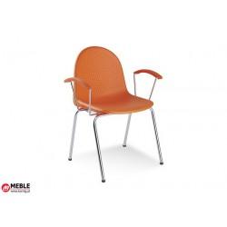 Krzesło Amigo 2P plastik pomarańczowy