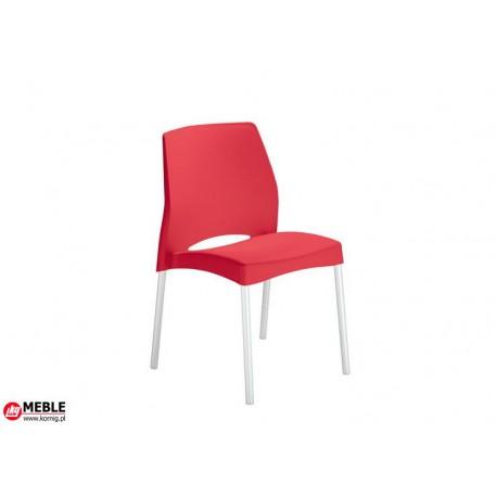 Krzesło El Sol plastik czerwień