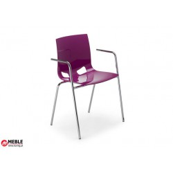 Krzesło Fondo PP Arm fiolet