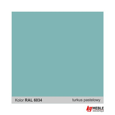 Turkusowy RAL 6034