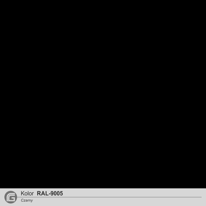 Czarny RAL 9005