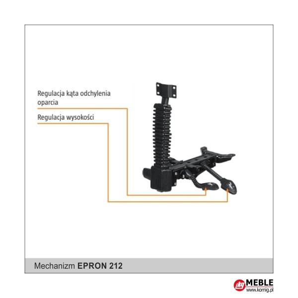 mechanizm Epron Syncron i regulacją głębokości oraz kąta pochylenia siedziska