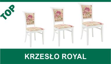 Białe krzesła pokojowe ROYAL